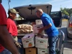 Food donations for families impacted by Hurricane Matthew