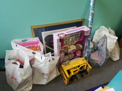 Gift donations for families during the holidays